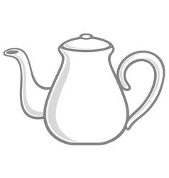 White teapot vector