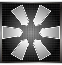 Six arrows vector