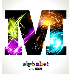 Design abstract letter m vector
