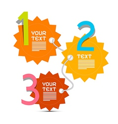 Three steps paper infographics layout vector