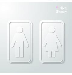 symbols WC vector image