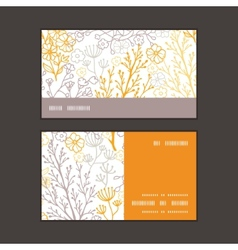 Magical floral horizontal stripe frame vector