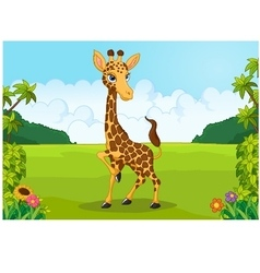 Cartoon cute giraffe vector