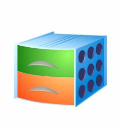 storage box vector image