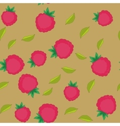 Raspberry cartoon seamless texture 652 vector