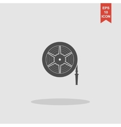 Fire hose reel vector image