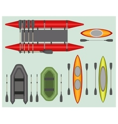 Set elements rafting and boating vector