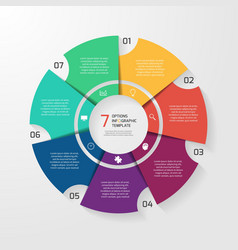 Circle infographic 7 options vector
