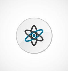 Atom icon 2 colored vector