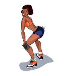 Booty shake Twerk dance Black woman vector image