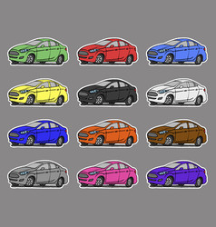 cartoon cars sticker for boys vector image vector image