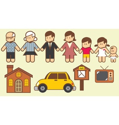 Collection of family vector