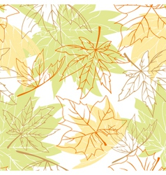 Colorful autumn leaves seamless vector image vector image