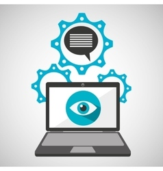 computer security message social network concept vector image