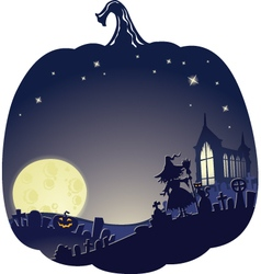 doublhalloweenblue vector image vector image