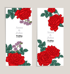 floral wedding invitation card sketch vector image