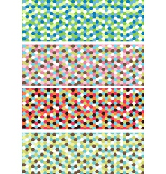 horizontal mosaic banners vector image