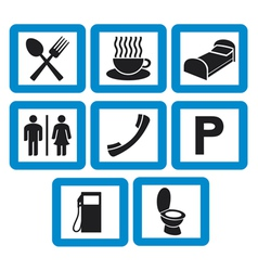 hotel icons set - hotel signs vector image vector image