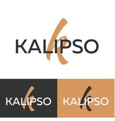 kalipso logo letter k logo logo template vector image vector image