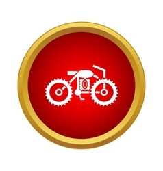 Motorcycle icon simple style vector image