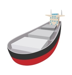 Oil tanker cartoon icon vector