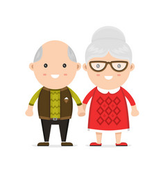 old man and woman grandmother and grandfather vector image vector image