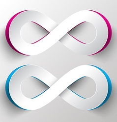 Paper Cut Infinity Symbols vector image vector image