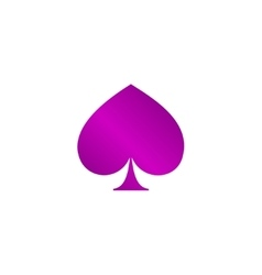 poker icon Flat vector image vector image