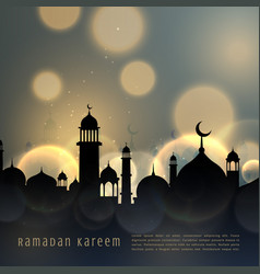 Ramadan kareem islamic seasonal greeting with vector