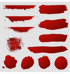 red blobs set vector image