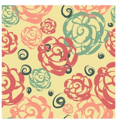 Seamless floral background with roses vector image vector image
