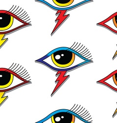 Seamless one eye pattern vector
