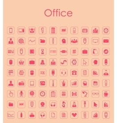 Set of office simple icons vector image vector image