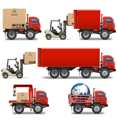 Shipment icons set 34 vector