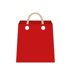 Shopping bag red commerce icon graphic vector