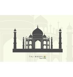 Taj mahal in india vector