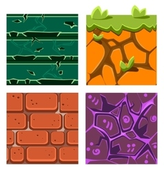 Textures for platformers icons set of gems vector