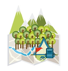 Travel camping vector