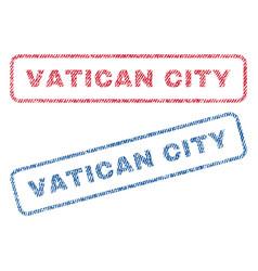 Vatican city textile stamps vector
