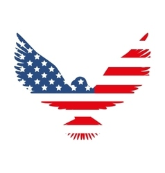 Hawk america usa flag vector