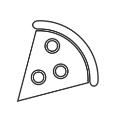 Pizza snack lunch design vector