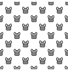 Bulletproof vest pattern simple style vector