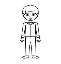 Man silhouette with formal shirt and bowtie vector