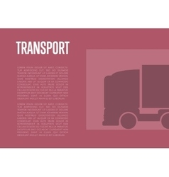 Transport banner with truck silhouette vector