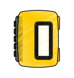 walkman cassette player icon vector image