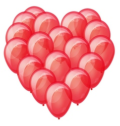 Red balloons heart vector