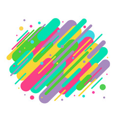 Abstract colored rounded shapes lines in diagonal vector
