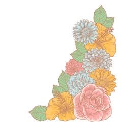 Elegant floralcorner card vector