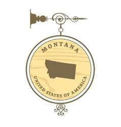 Vintage label montana vector