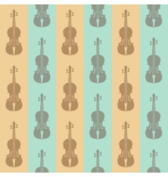 Seamless vintage background with violins vector
